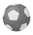 Green soccer ball icon in monochrome style vector image