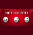 grunge halloween banner vector image vector image