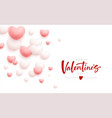 happy valentines day festive background flying vector image vector image