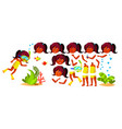 indian girl kindergarten kid hindu vector image vector image