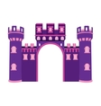 Isolated castle toy vector image vector image