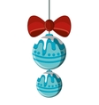 Isolated spheres of Christmas season design vector image vector image