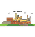 italy urbino city skyline architecture vector image vector image