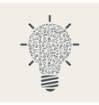 light bulb with education elements vector image