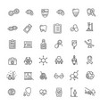 line medicine concepts icons set vector image