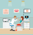 medical otolaryngologist ear nose throat doctor vector image vector image
