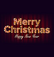 merry christmas sign and happy new year vector image vector image