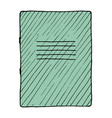 notebook vector image vector image
