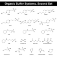 Organic buffer agents vector image