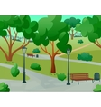 Park Landscape Flat vector image vector image