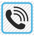 Phone Call Icon In a Frame vector image vector image