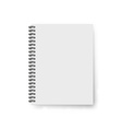 Realistic notebook template Blank cover design vector image vector image