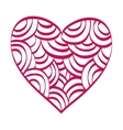 red heart love shape vector image vector image