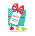rosh hashanah jewish holiday card with honey jar vector image vector image
