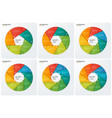 set of circle chart infographic templates vector image vector image