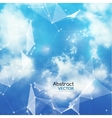Sky and Triangles Background Futuristic vector image vector image