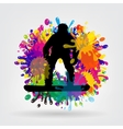 snowboarding background vector image vector image
