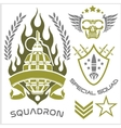 Special forces patch set vector image vector image