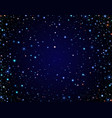 starry clear sky vector image vector image