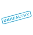 Unhealthy Rubber Stamp vector image vector image