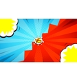 versus letters fight background vector image vector image