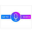voice search recognition flat icon vector image vector image
