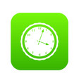watch icon digital green vector image