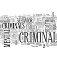what makes a criminal nature or nurture text word vector image vector image