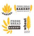 fresh bread isolated logo set vector image