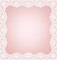 Lacy frame on pink vector image