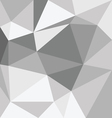 Abstract gray 3d interior with polygonal pattern o vector image