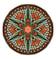 abstract mandala oriental pattern tattoo vector image vector image