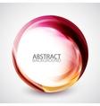 Abstract swirl energy circle vector image vector image