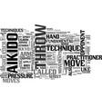 aikido fundamentals text word cloud concept vector image vector image