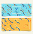 back to school simple geometric line banners vector image vector image