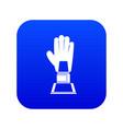 baseball glove award icon digital blue vector image