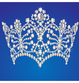 beautiful diadem feminine wedding on blue backgrou vector image vector image