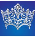 beautiful diadem feminine wedding on blue vector image vector image