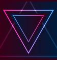 blue purple retro neon laser triangle abstract vector image