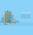 building web banner skyscraper floors with glass vector image vector image
