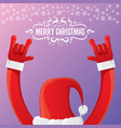 cartoon rock n roll santa claus with vector image
