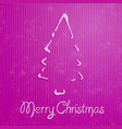 christmas greeting card with pink background vector image vector image