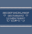 christmas knitted font nordic fair isle knitting vector image