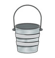 colored pencil silhouette metallic bucket vector image