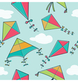 colorful kites seamless pattern vector image vector image