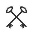 crossed keys vector image