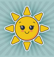 cute smiling sun face vector image vector image