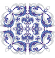 Damask ornament vector image