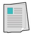 document pages icon vector image vector image