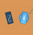 easy wireless charging process vector image
